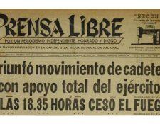 Titular del 3 de Agosto de 1954 informando sobre el levantamiento de los Cadetes. (Foto: Hemeroteca PL)