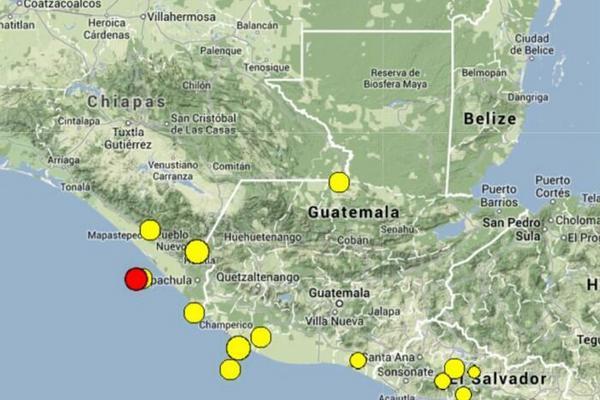 El sismo tuvo su epicentro en San Marcos. (Foto Prensa Libre: Insivumeh)