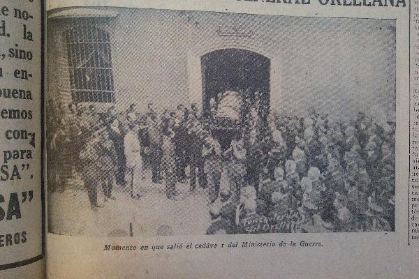Existe escasa documentación fotográfica de los funerales del expresidente José María Orellana.