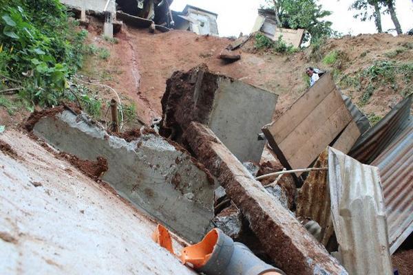Daños en varias viviendas en la aldea San Francisco, El Quetzal, San Marcos. (Foto Prensa Libre: Alexander Coyoy)