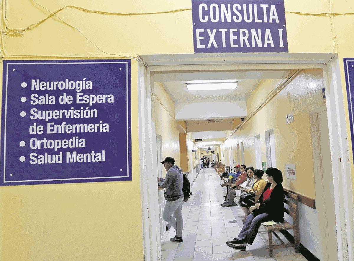 El servicio de consulta externa en los hospitales lleva 16 semanas restringida. (Foto Prensa Libre: Hemeroteca PL)