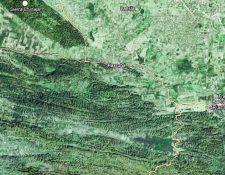 Mapa de Raxuhá,  Alta Verapaz (Foto Prensa Libre: Google Maps)