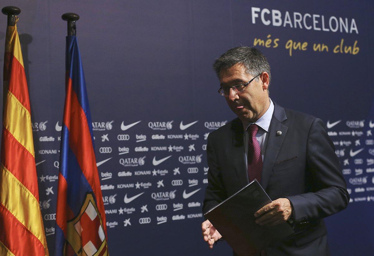 El Barsa dice que el club no es parte en el proceso judicial a Sandro Rosell