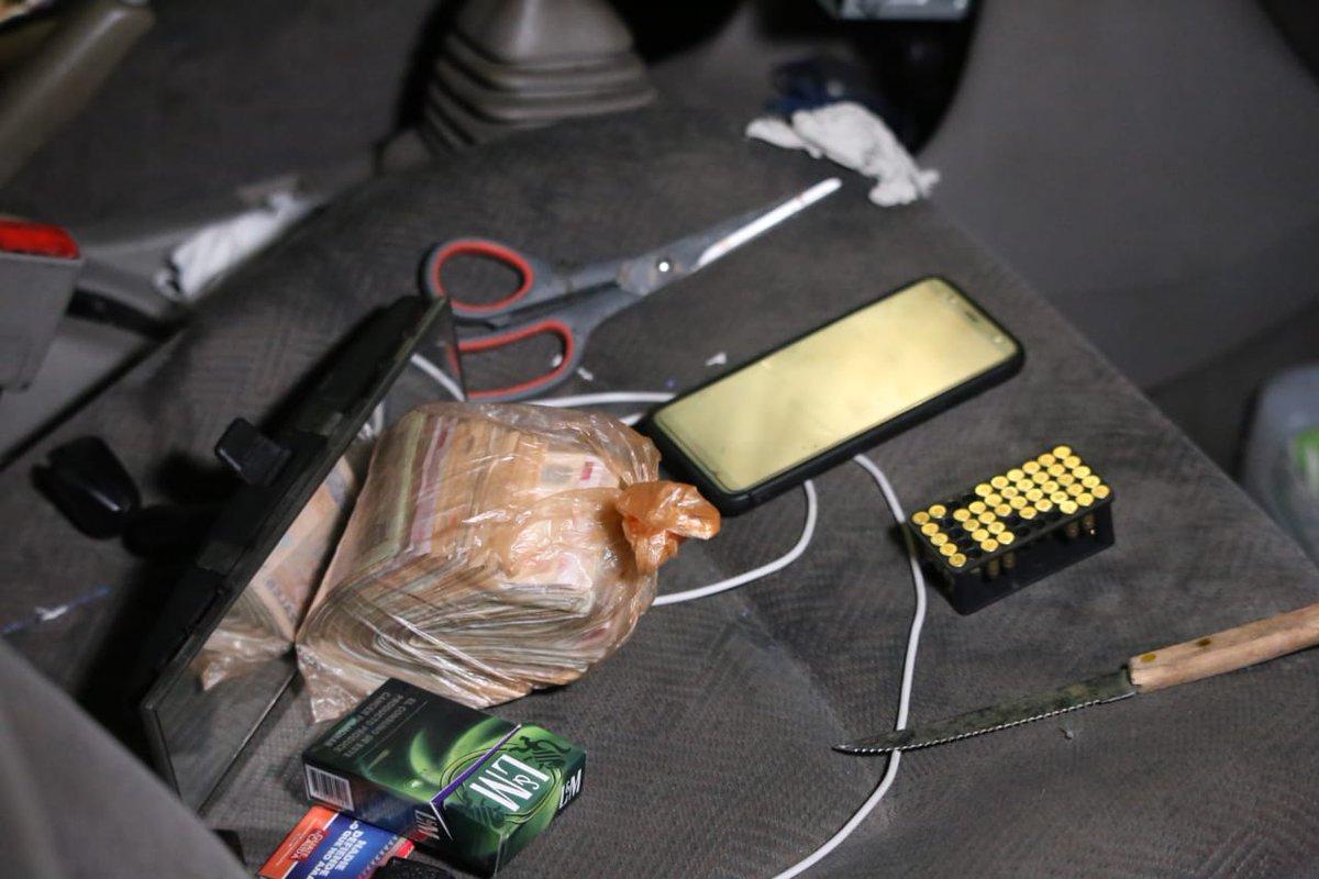 Objetos que les incautaron. Foto Prensa Libre: PNC