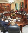 Magistrados de la Corte Suprema de Justicia reunidos en pleno. (Foto Prensa Libre: Hemeroteca PL)