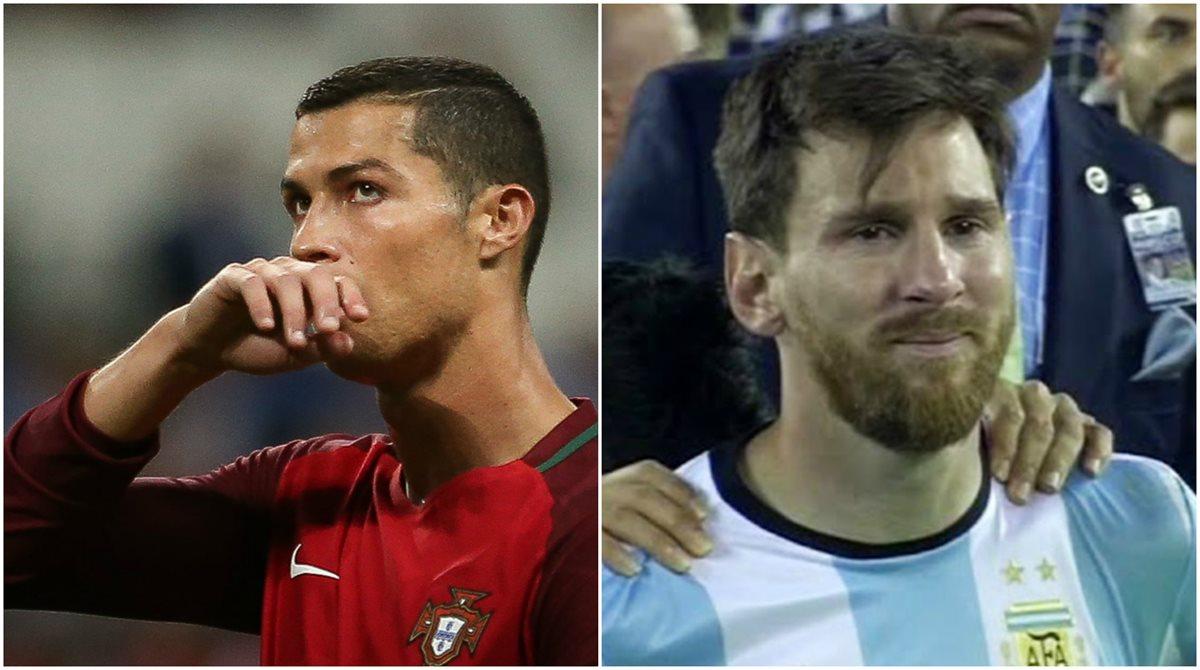 Cristiano Ronaldo y Lionel Messi han caído contra la poderosa selección de Chile. (Foto Prensa Libre: EFE y Hemeroteca PL)