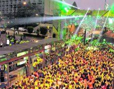 Los 10k nocturnos de la Ciudad e Guatemala es una competencia que disfrutan los guatemaltecos desde hace 7 años. (Foto Hemeroteca PL)