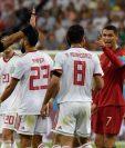 Irán logró un empate sobre la hora y amargó la clasificación de Portugal hacia octavos de final de la Copa del Mundo. (Foto Prensa Libre: AFP)