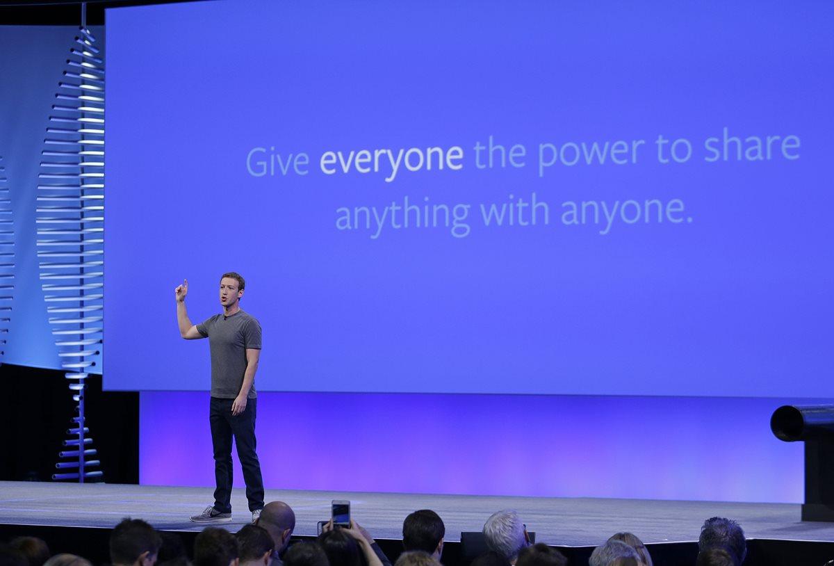Mark Zuckerberg habló durante la conferencia F8 sobre los inmigrantes. (Foto Prensa Libre: AP)