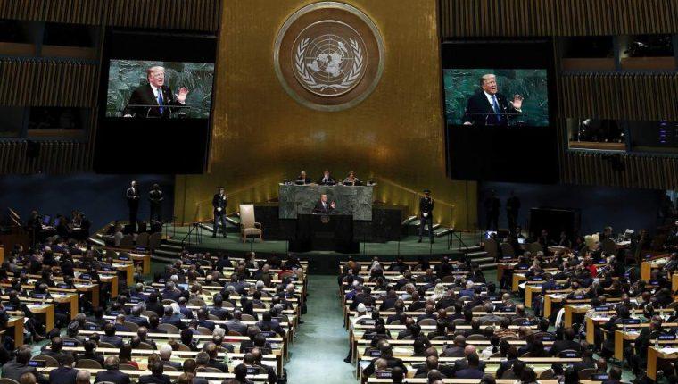Asamblea General de la Organización de Naciones Unidas. (Foto Prensa Libre: EFE)