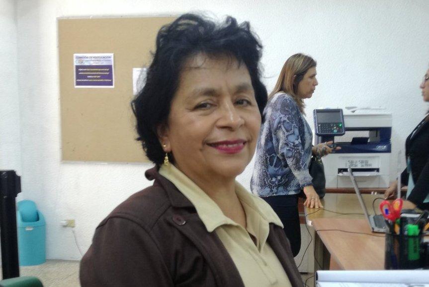 Telma Girón participa como candidata a contralor general de Cuentas. (Foto Prensa Libre: Guatemala Visible)