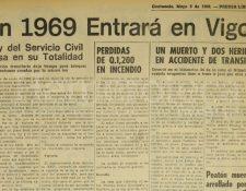 Nota de Prensa Libre del 3 de mayo de 1968. (Foto: Hemeroteca PL)