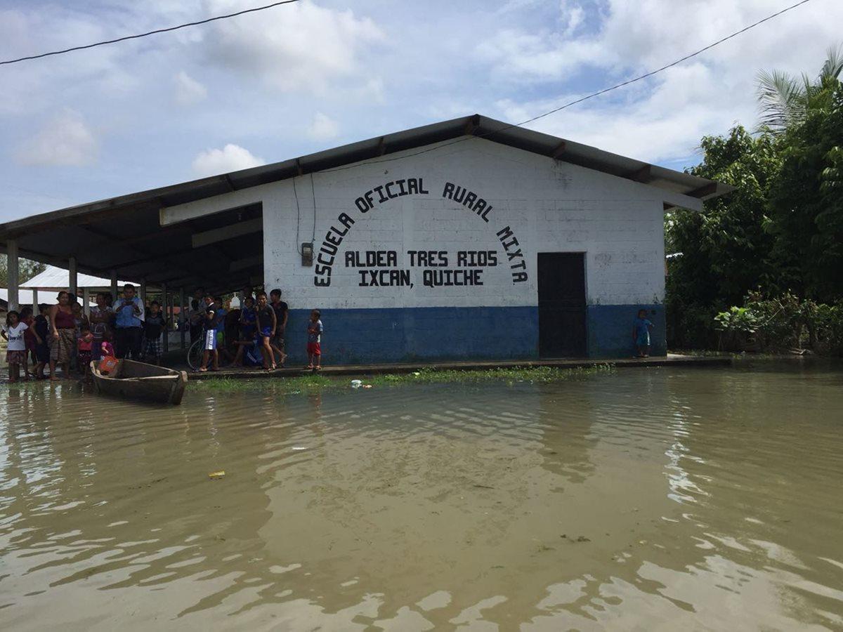 Cinco comunidades de Ixcán se inundan de nuevo