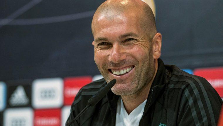 El entrenador del Real Madrid, Zinedine Zidane, en la conferencia de prensa previa al duelo contra el Sevilla F.C. (Foto Prensa Libre: EFE)