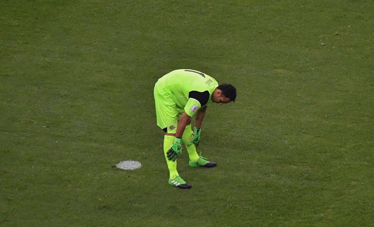 """Navas tuvo una de sus noche más irregulares con la selección """"tica"""". (Foto Prensa Libre: AFP)"""