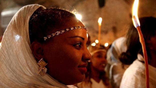 La Iglesia ortodoxa etíope es una de seis iglesias antiguas en el Santo Sepulcro. GETTY IMAGES