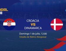 Croacia y Dinamarca juegan otra de las llaves de octavos de final del Mundial de Rusia 2018. (Foto Prensa Libre: TodoDeportes)