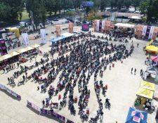 Aspecto de la actividad de Motos Freedom realizada en el Campo Marte.