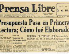 Portada del 21/6/1953, sobre Presupuesto de la Nación 1953-54. (Foto: Hemeroteca PL)