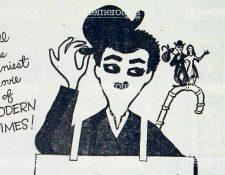 """Anuncio de 1956 de la película """"Modern Times"""" en el que aparece el famoso """"Charlot"""". Foto: Hemeroteca PL"""