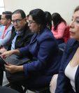Sindicados asisten a una audiencia en el juicio del caso Botín en el Registro de la Propiedad. (Foto Prensa Libre: Érick Ávila)