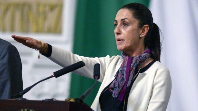 Claudia Sheinbaum rindió protesta este miércoles como jefa de Gobierno de Ciudad de México. GETTY IMAGES