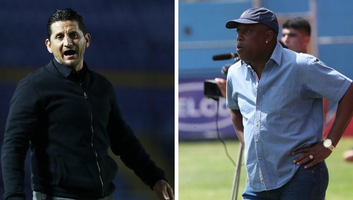 Los técnicos costarricenses Ronald González y Hernán Medford han recibido muchas críticas por el desempeño de Comunicaciones y Municipal respectivamente. (Foto Prensa Libre: Hemeroteca PL)