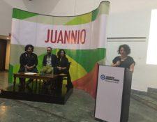 Jurado Calificador escucha la presentación de los ganadores de la edición 53 de Juannio. (Foto Prensa Libre: cortesía @Juanniogt)