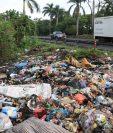 Se estima que unos 200 basureros clandestinos hay en la cabecera de Escuintla. (Foto Prensa Libre: Enrique Paredes)