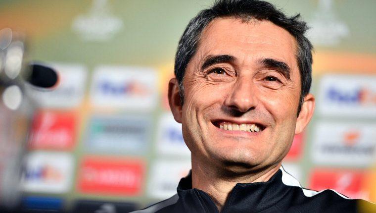 Ernesto Valverde es el nuevo técnico azulgrana. (Foto Prensa Libre: AFP)