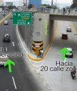 El nuevo viaducto está ubicado debajo de la plaza El Obelisco. (Foto Prensa Libre: Erick Ávila)