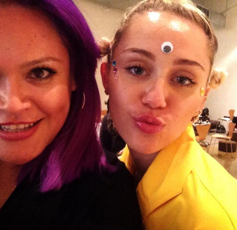 Mariana ha compartido con estrellas del espectáculos en Estados Unidos, como Miley Cyrus. (Foto Prensa Libre: Cortesía Mariana Marroquín)
