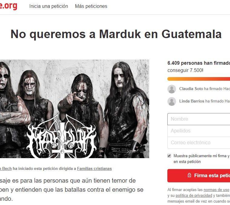 Así lucía la página de la petición en la mañana del domingo. (Foto Prensa Libre: captura de pantalla).