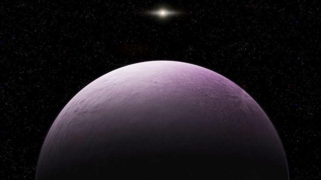 """El planeta enano 2018 VG18, apodado Farout o """"Remoto"""", tarda cerca de mil años en dar una vuelta al Sol. ROBERTO MOLAR CANDANOSA/CARNEGIE INSTITUTION FOR S"""
