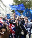 Una foto de archivo tomada el 3 de septiembre del 2016 muestra a manifestantes anti-brexit en Londres.(AFP).