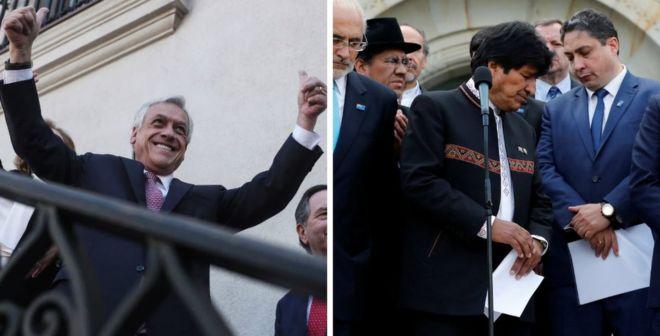 Mientras Chile celebraba, Bolivia recibía el fallo con resignación. EPA/REUTERS