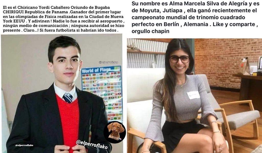 Dos de los actores de la industria pornográfica cuyas imágenes han sido utilizadas para elaborar publicaciones en redes sociales. (Foto Prensa Libre: Redes sociales)