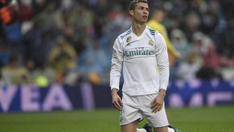 Cristiano Ronaldo no ha tenido una buena primera vuelta en la temporada de la Liga 2017-2018 con una escasa producción de goles. (Foto Prensa Libre: AFP)