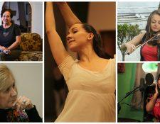 Guatemaltecas envían mensaje por el Día de la Mujer. (Foto Prensa Libre: Hemeroteca PL)
