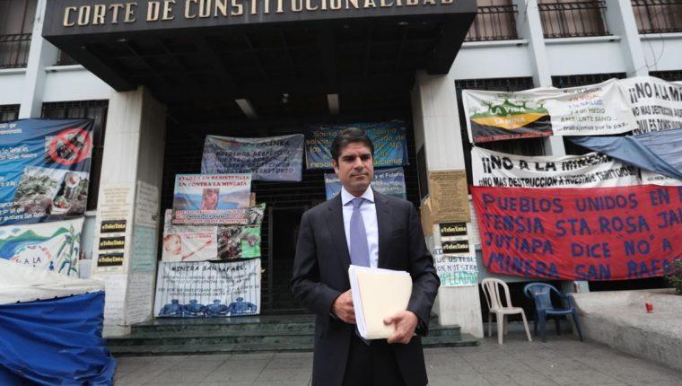 Juan Pablo Carrasco, presidente de AmCham, presentó recurso ante la CC a favor de Minera San Rafael. (Foto Prensa Libre: Esbin García)