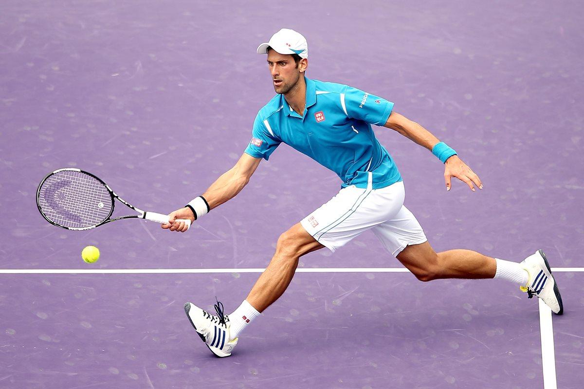 El serbio Novak Djokovic se clasificó a la ronda final del Master 1000 de Miami. (Foto Prensa Libre: AFP)