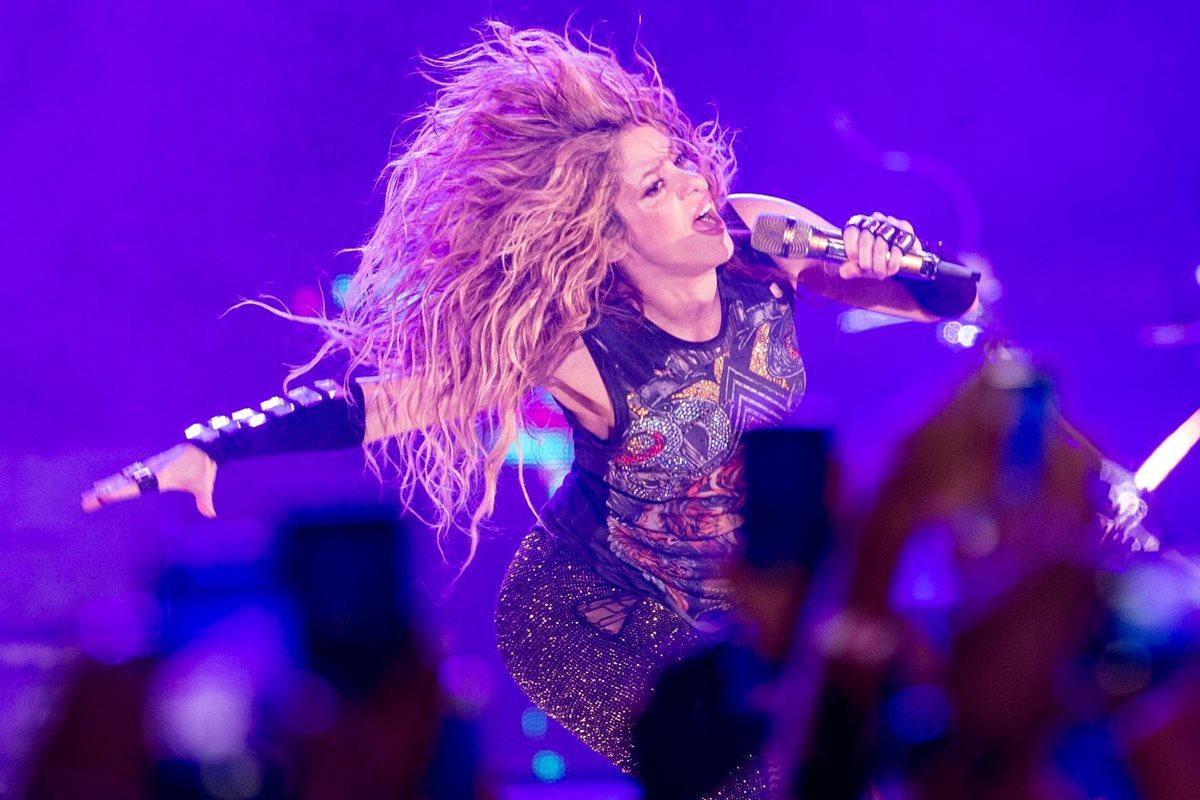 Shakira, en una de sus giras, este año.