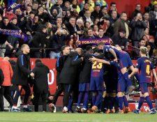 Barcelona llega motivado por el resultado que consiguieron en la Liga de Campeones. (Foto Prensa Libre: AFP)