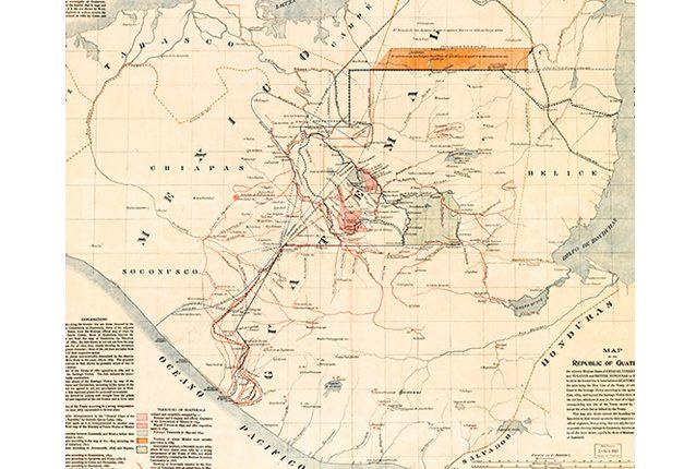 Proyecto de límites entre Guatemala y México, mapa colección de la Biblioteca del Congreso de EE. UU. (Foto: Hemeroteca PL)