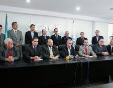 El Cacif, presidido por Jorge Briz, exigió la semana pasada la renuncia de Roxana Baldetti, y pide que se sigan investigando los actos corruptos. (Foto, Hemeroteca PL).