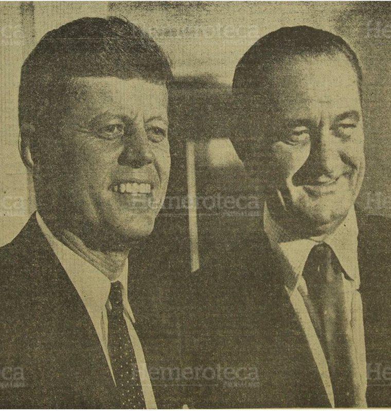 El nuevo presidente norteamericano, John F. Kennedy y el vicepresidente Lyndon Baines Johnson. 9/11/1960. (Foto: Hemeroteca PL)