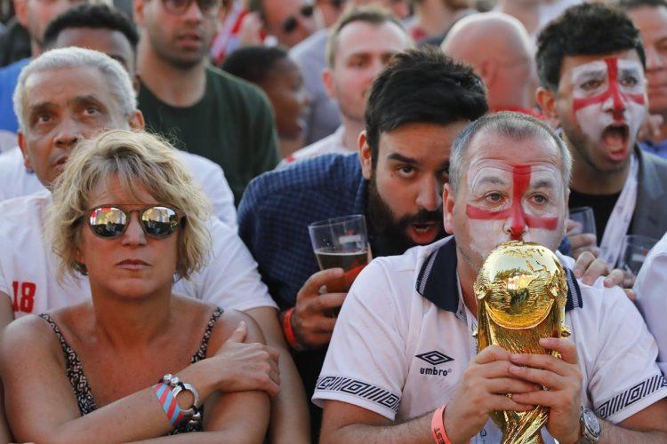 Los ingleses soñaban con alzar la Copa del Mundo.