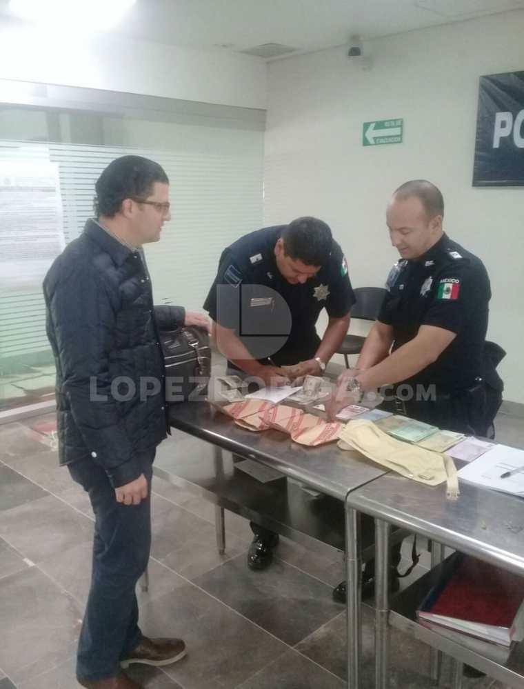 Según el periodista mexicano Joaquín López-Dóriga, en la foto aparece José Armando Rodríguez Ayache, concuño del exgobernador Javier Duarte. Quería llevarle miles de euros, añadió. (Foto, Prensa Libre: @lopezdoriga)