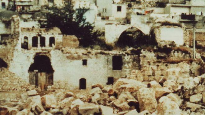 La ciudad de Hama quedó devastada tras los bombardeos. WIKIMEDIA COMMONS