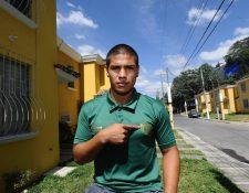 Mauro Portillo con tan solo 21 años festejó su primer título con Antigua GFC. (Foto Prensa Libre: Francisco Sánchez)